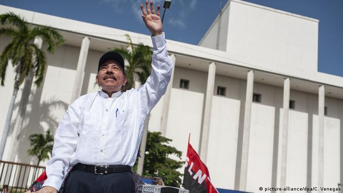 Nicaragua 39. Jahrestages der sandinistischen Revolution   Präsident Daniel Ortega (picture-alliance/dpa/C. Venegas)