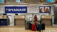 Spanien Madrid Ryanair Schalter während Streik