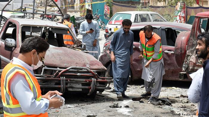 Pakistan Quetta Anschlag bei Parlamentswahl (Reuters/N. Ahmed)