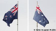Flaggen von Neuseeland und Australien (R)