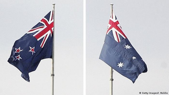 The New Zealand and Australian flags (Getty Images/I. Waldie)