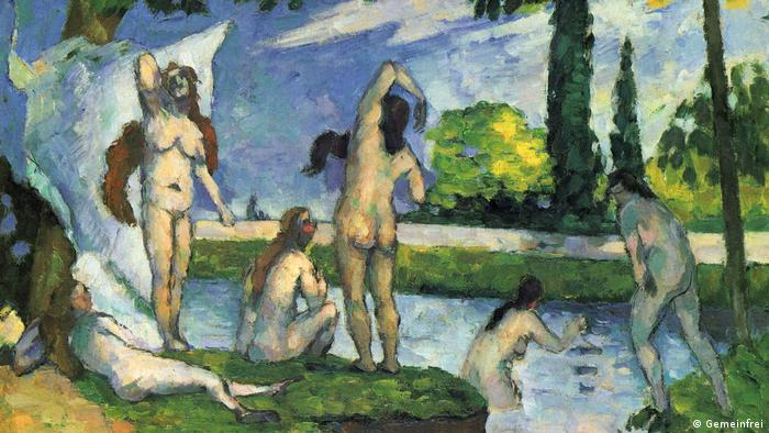 Painting of young naked women by a river (Gemeinfrei, Paul Cézanne)