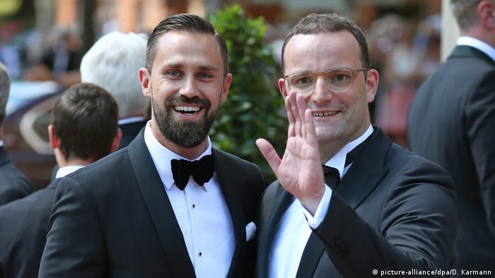 Jens Spahn and his husband Daniel Funke at the Bayreuth festival 2018