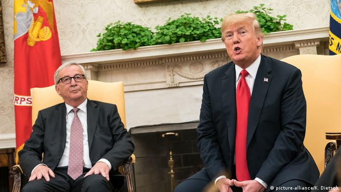 Donald Trump and Jean-Claude Juncker at the White House