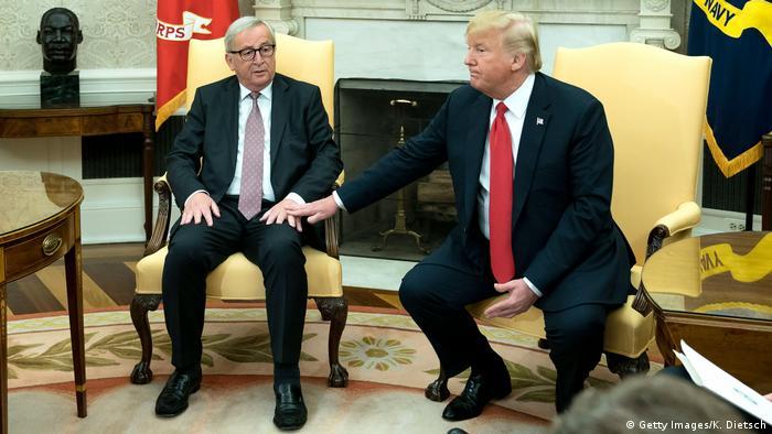 USA, Washington: Donald Trump und Jean-Claude Juncker