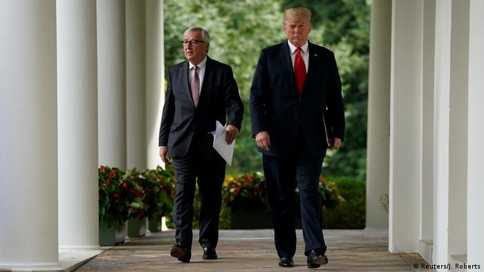 European Commission President Jean-Claude Juncker and US President Donald Trump (Reuters/J. Roberts)