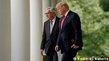 USA Washington Jean-Claude Juncker, Präsident EU-Kommission & Donald Trump