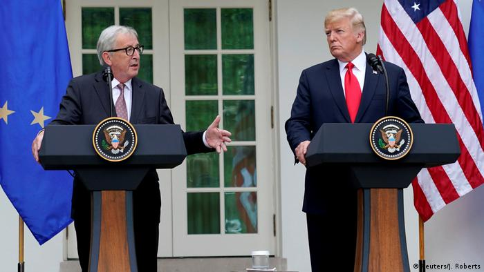 USA Washington Jean-Claude Juncker, Präsident EU-Kommission & Donald Trump (Reuters/J. Roberts)