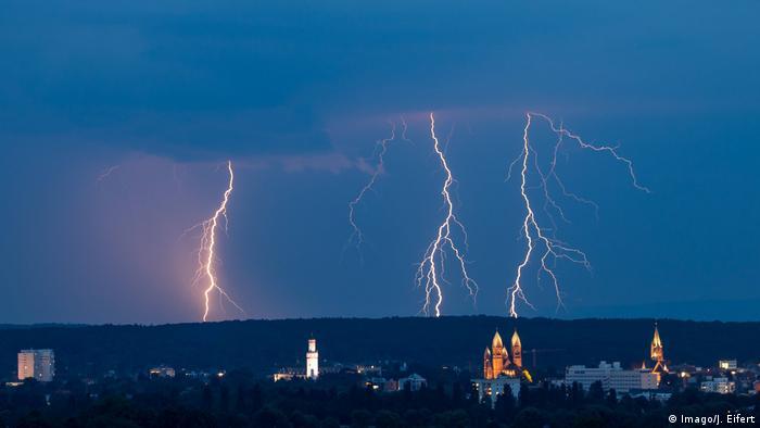 Deutschland Blitz über Bad Homburg