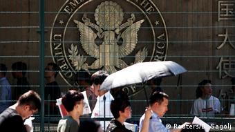 China Peking Explosion vor US-Botschaft