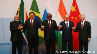 Лидеры стран БРИКС на саммите в ЮАР