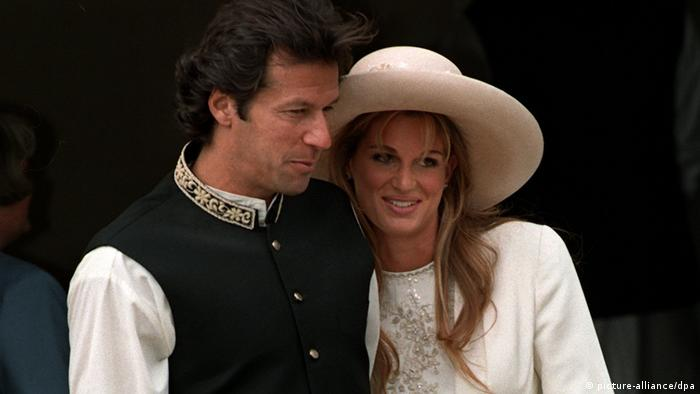 Just Married - Jemima Goldsmith marries Imran Khan (picture-alliance / dpa)