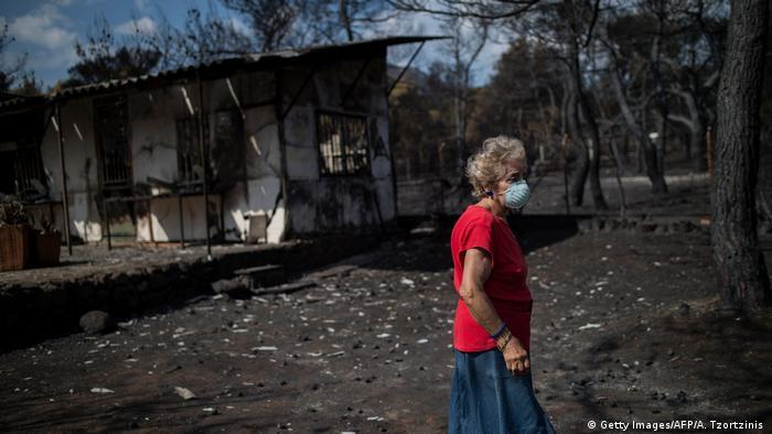 Yunanistan'daki yangınlarda kundaklama şüphesi