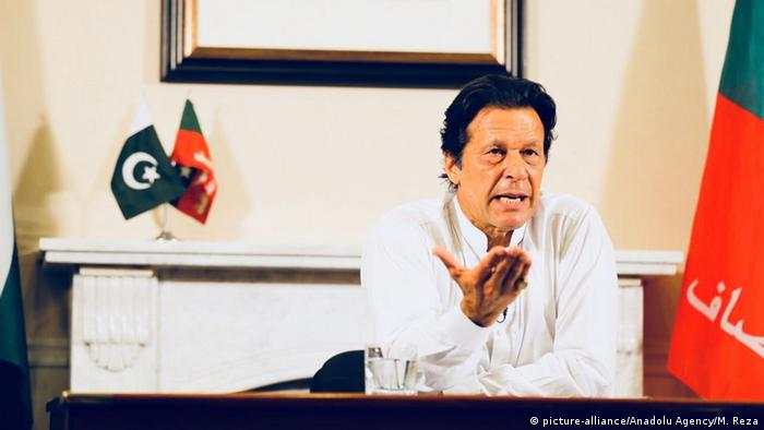 Pakistan Imran Khan, neuer Premierminister (picture-alliance/Anadolu Agency/M. Reza)