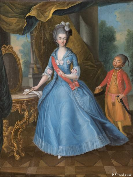 Йоханн Вольфганг Хаувиллер. Наследная принцесса Амалия и ее паж Федор (1774/75)