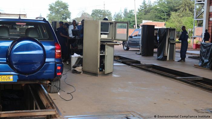 Vehice inspection training in Rwanda (Environmental Compliance Institute)