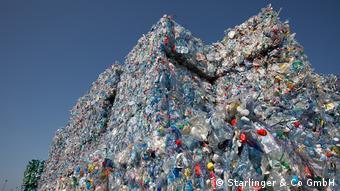 Спрессованные пластиковые бутылки