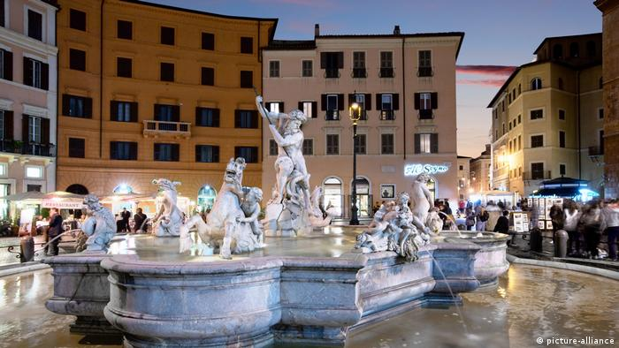 Rom, Neptun Brunnen in Piazza Navona (picture-alliance)
