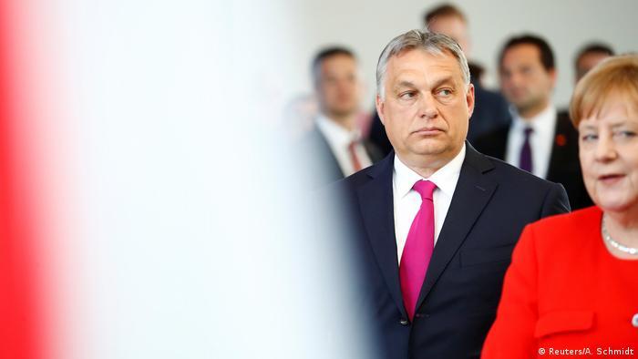German Chancellor Angela Merkel with Hungarian Prime Minister Viktor Orban