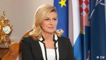 DW-Interview mit der kroatischen Staatspräsidentin olinda Grabar-Kitarovic (DW)