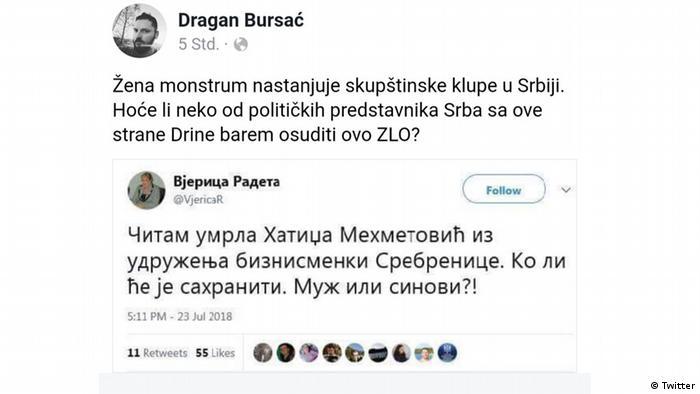 Screenshot Twitter- Vjerica Radweta (Twitter)