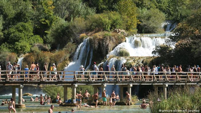 Skradinski Buk waterfall in Croatia (picture-alliance/D.Jaramaz)