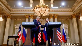 Trump shakes hands with Putin in Helsinki