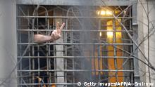 Moskau Gefängnis Opposition Aktivist Peace Zeichen
