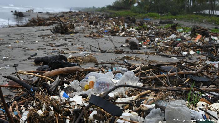 Honduras Müll am strand