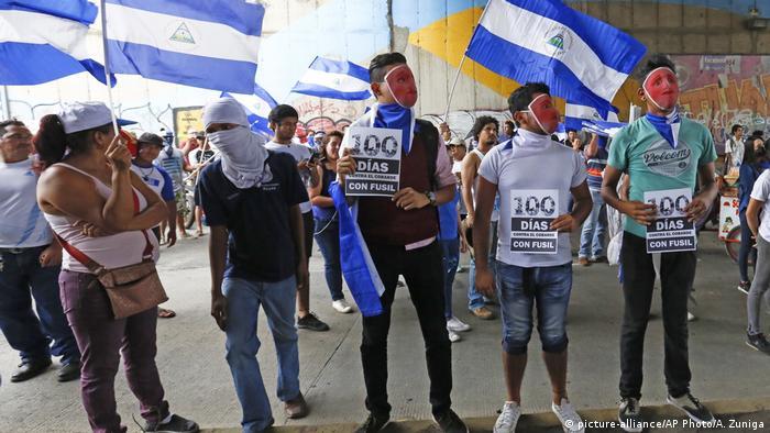 Nicaragua 100 Tage Proteste gegen Regierung (picture-alliance/AP Photo/A. Zuniga)