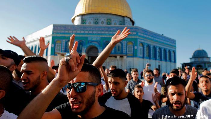 Israel Jerusalem Unruhen auf dem Tempelberg (Getty Images/AFP/A. Gharabali)