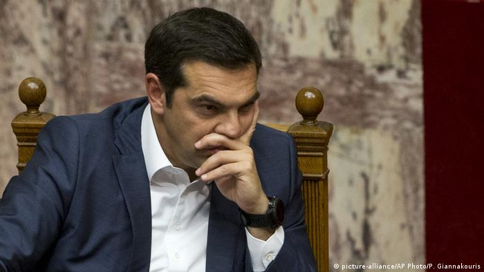Alexis Tsipras (picture-alliance/AP Photo/P. Giannakouris)