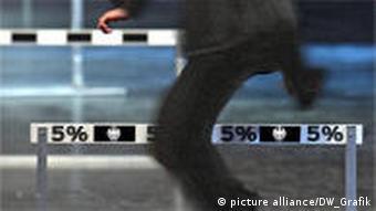 Symbolbild 5% Hürde Bundestagswahl