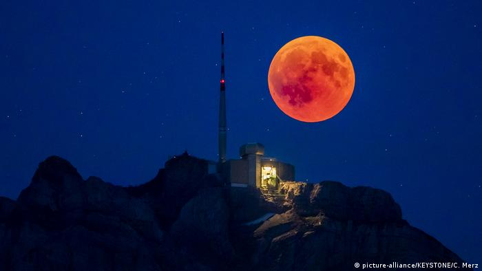The blood moon viewed from Switzerland