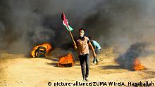 Palästina Gaza Proteste an der Grenze zu Israel