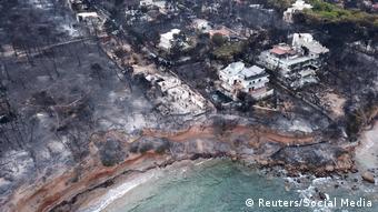 «Μετά τις πυρκαγιές στην Ελλάδα η κυβέρνηση προτίθεται να προχωρήσει στην κατεδάφιση αυθαιρέτων [...]»