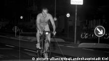 Nackter Radfahrer in Kiel geblitzt