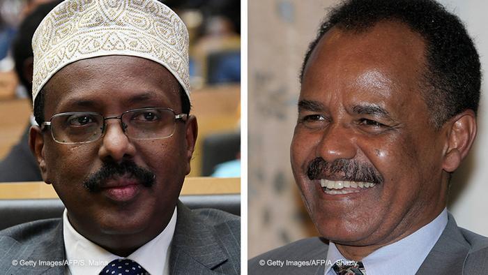 Bildkombo l Somalischer Präsident Mohamed Abdullahi Mohamed und Eritreische Präsident Isaias Afwerki