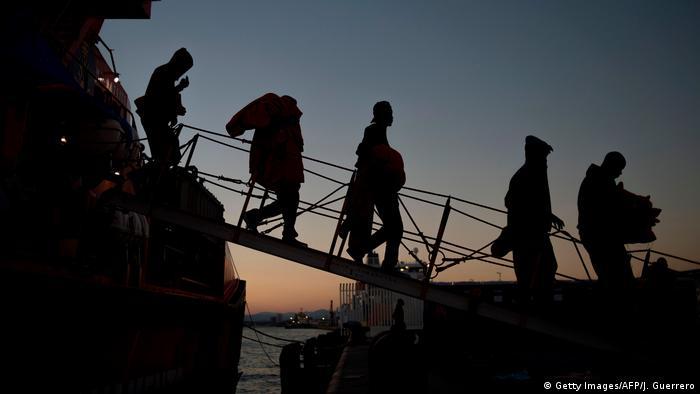Spanien Algericas Gerettete Flüchtlinge