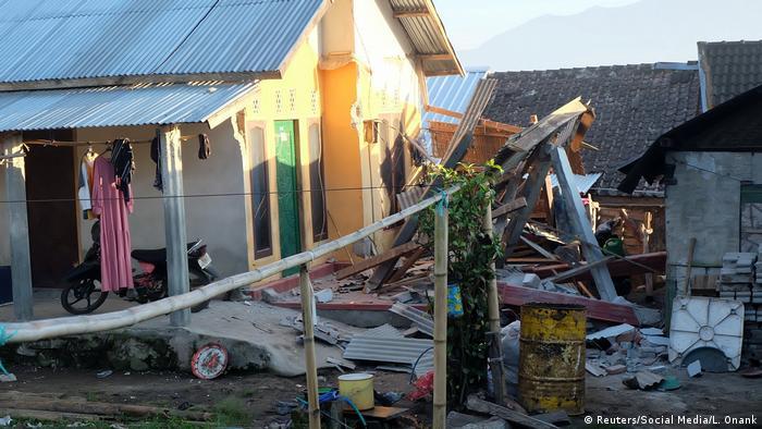 Наслідки землетрусу на острові Ломбок