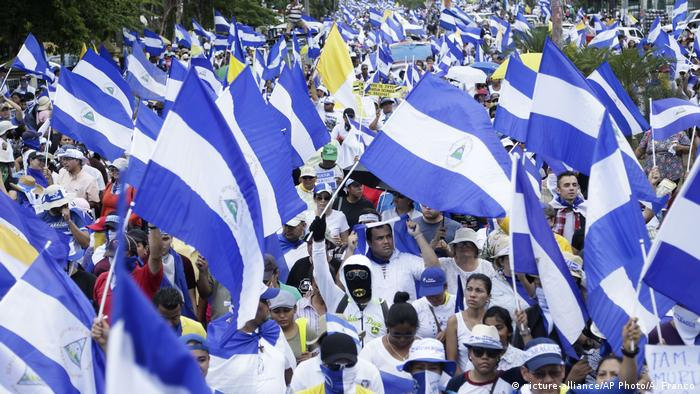 Protests in Nicaragua (picture-alliance/AP Photo/A. Franco)