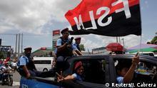 Nicaragua Managua Pro Regierungs Demonstration