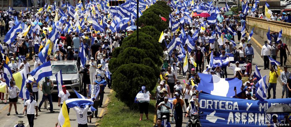 País tem sido palco de intensos protestos contra o governo Ortega