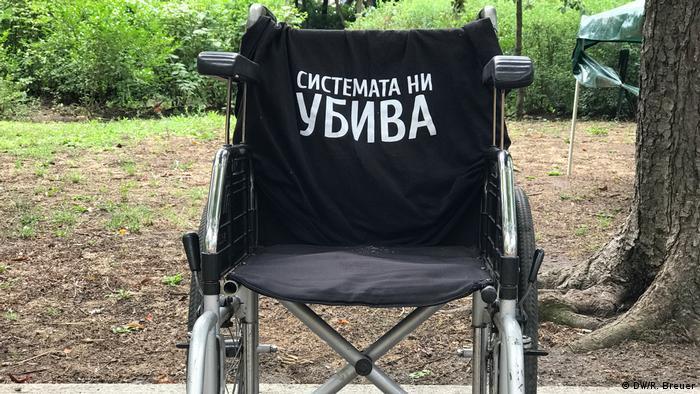 Rollstuhl Das System tötet uns