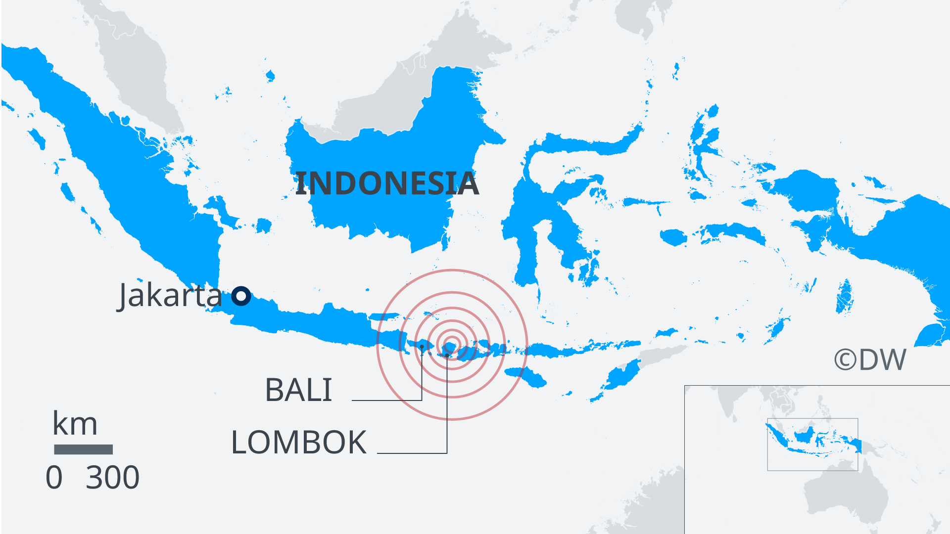 Map of Lombok quake area