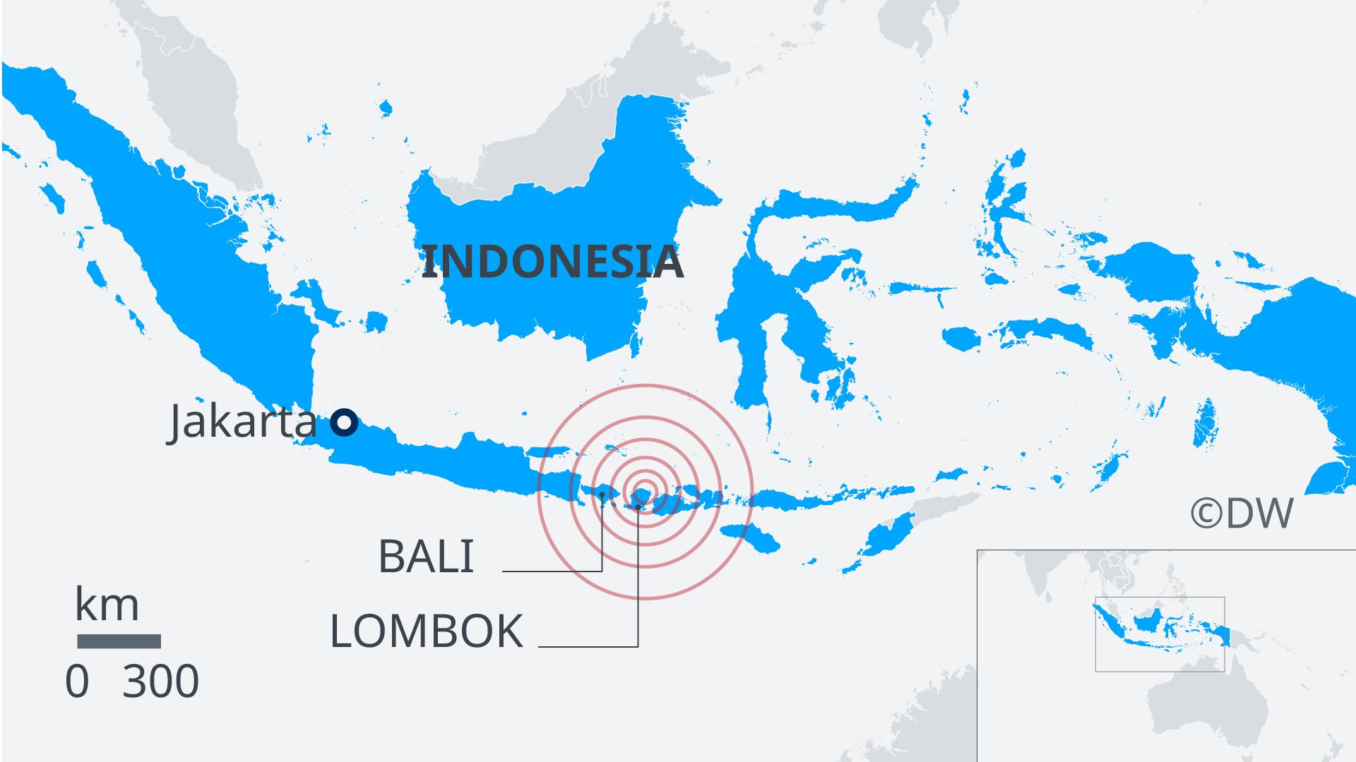 Karte Erdbeben Indonesien Lombok EN