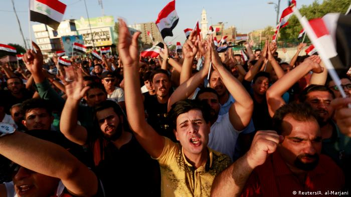 People protest over poor public services in Najaf, Iraq
