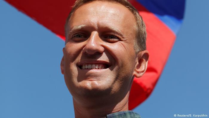 Happy-looking Alexei Navalny