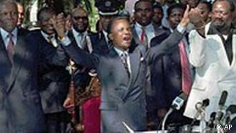 Dos Santos, Ferderick Chiluba, und Jonas Savimbi