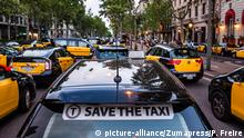 Spanien | Taxifahrerstreik in Barcelona (picture-alliance/Zumapress/P. Freire)